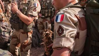 Französische Soldaten im Auslandeinsatz.
