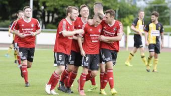 Die Fussballer des SV Muttenz können nun auch ihren Sieg an der Gemeindeversammlung bejubeln.