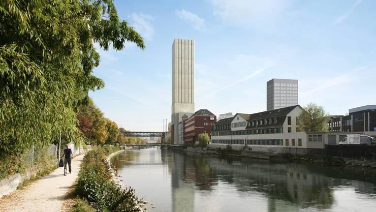 Der geplante Swiss Mill Tower (Visualisierung, Archiv)