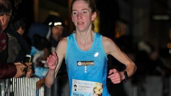 Martina Strähl musste sich durchbeissen und lief am Schluss schneller als letztes Jahr.