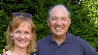Happy: Beni Thurnheer und Kathrin Hildebrand. (Archiv)