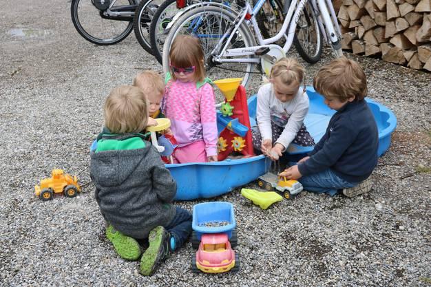 Den zahlreichen Kindern, die auf den Bauernhof der Familien Steiner kommen, ist nicht langweilig; sie haben unzählige Spielmöglichkeiten in sicherer Umgebung