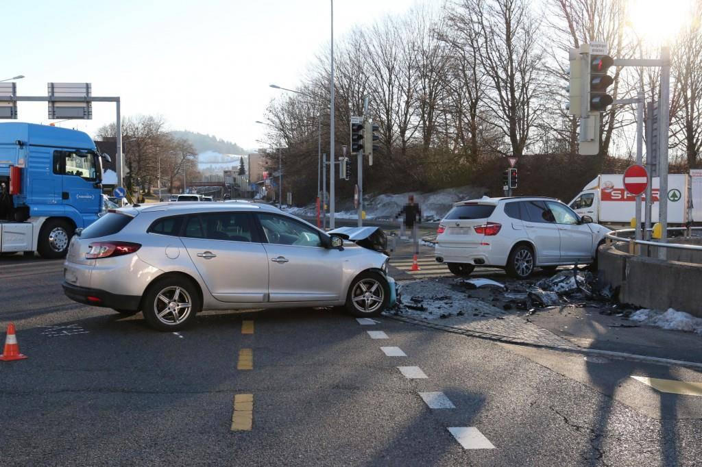 Unfall beim Kybunpark (© Kantonspolizei SG)