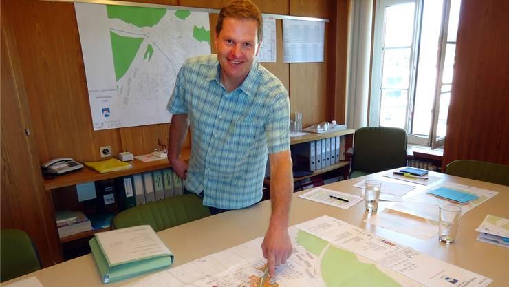Vizeammann Hans Rätzer ist zuständig für die Gesamtrevision der Othmarsinger Nutzungsplanung. Fritz Thut