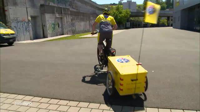 Sichere Zukunft für Tierlignadenhof / TCS mit E-Bike unterwegs