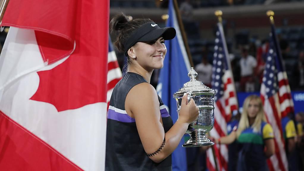Kanada zeigt dem grossen Nachbarn den Meister: Der Sieg am US Open war nicht nur Bianca Andreescus erster Major-Titel, sondern auch der erste für Kanada (Männer und Frauen)