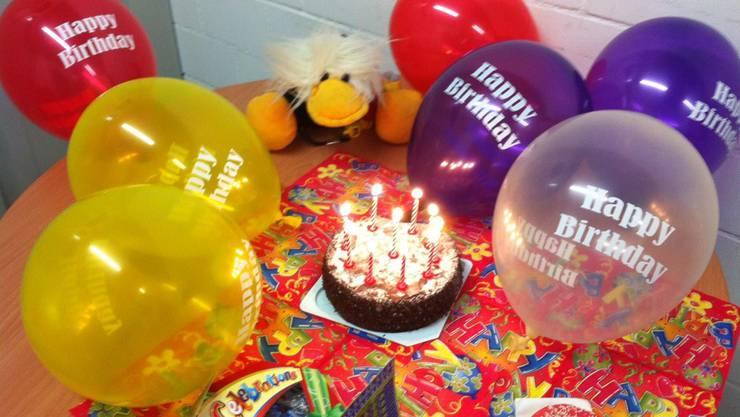 Maskottchen Loddar hat Geburtstag.