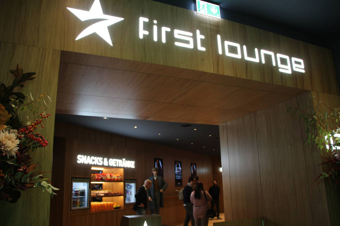 Eingang zur First Lounge (© FM1Today)