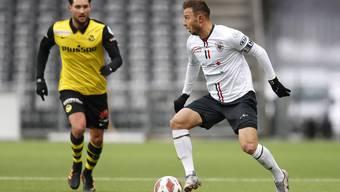 Wer für vier Spiele die Trikotbrust des FC Aarau (im Bild Zverotic) zieren will, muss 10'000 Franken hinblättern.