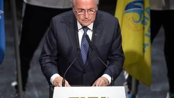 Joseph Blatter während seiner Rede an der Eröffnungs-Zeremonie des FIFA-Kongresses im Theater 11 in Zürich-Oerlikon