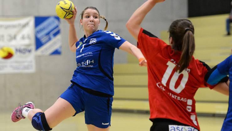 Anja Scherb steuerte drei Tore zum überraschenden Sieg gegen Nottwil bei.