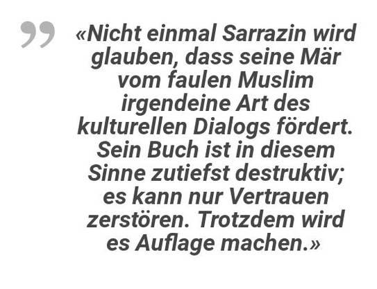 Das Rezensions-Fazit zum neuen Buch von Thilo Sarrazin von «N-TV».