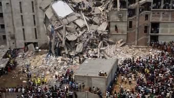 Das eingestürzte Rana Plaza (Archiv)