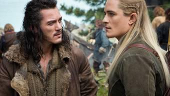 """Luke Evans (l.) und Orlando Bloom im dritten """"Hobbit""""-Film"""