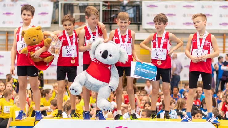 Auch die U12 Boys des TV Zofingen konnten sich den Gesamtsieg ergattern.
