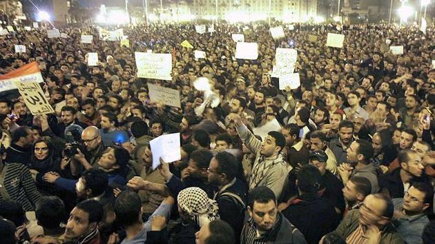 Proteste auf dem Tahrir-Platz in Ägypten im Jahr 2011: