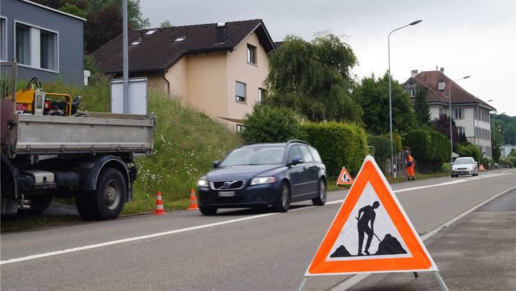 Vorbereitungs- und Installationsarbeiten in Eggenwil deuten auf den bevorstehenden Ausbau hin.