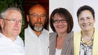 Martin Heiz (Reinach), Edmund Studiger (Oberkulm), Janine Murer (Leimbach), Annette Heuberger (Menziken)