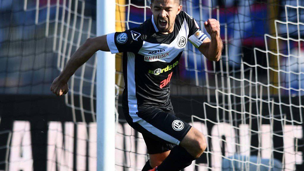 Jonathan Sabbatinis Jubel nach dem 1:1 gegen den FC Basel in der 44. Minute