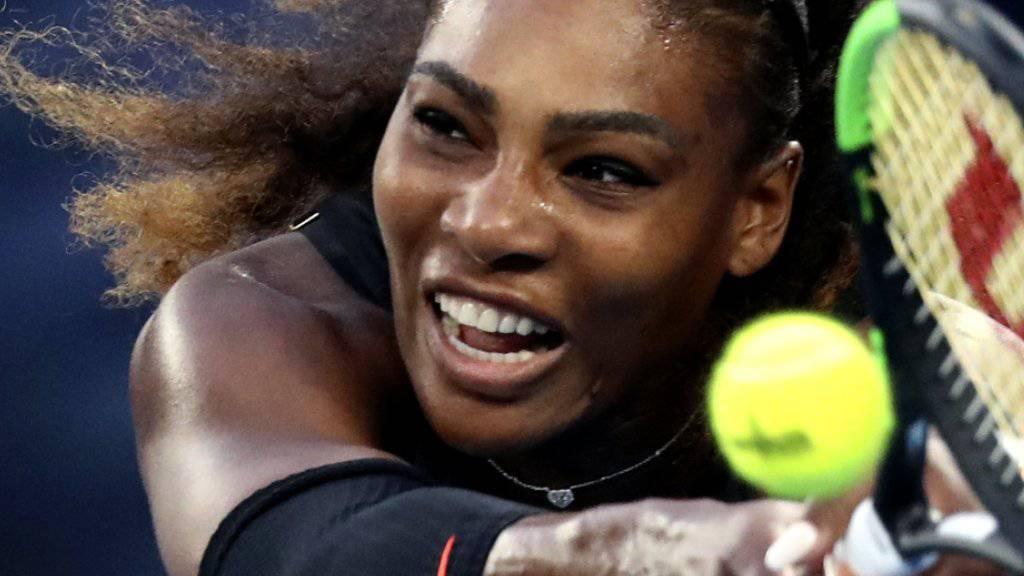 Serena Williams geht es bei ihrem Comeback-Start behutsam an