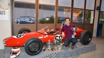 Bruno Weibel mit seinem Lotus 20.