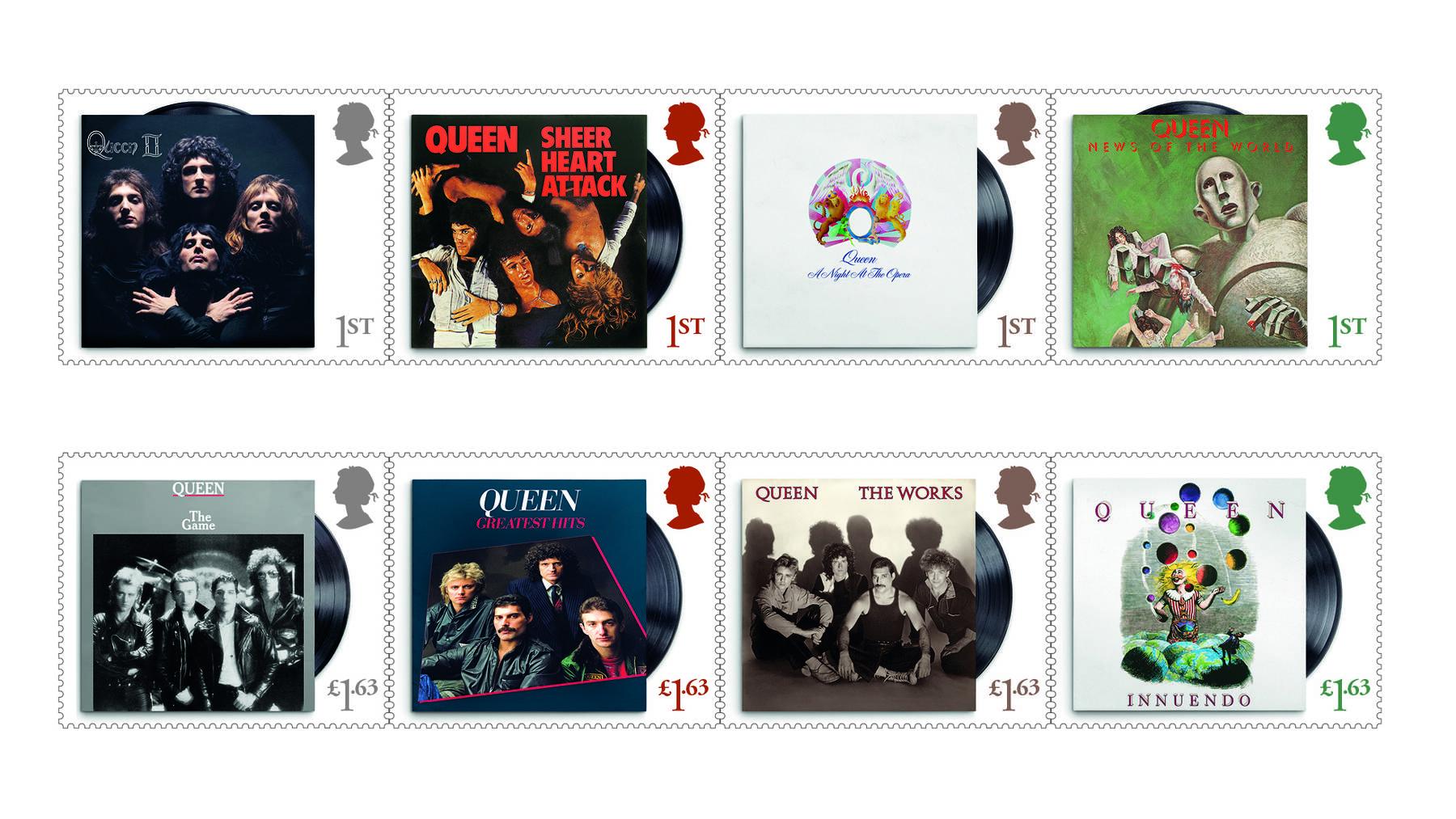 Queen Stamps se tenant 100%