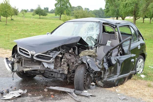 Beim Unfall wurden beide Autofahrer verletzt.