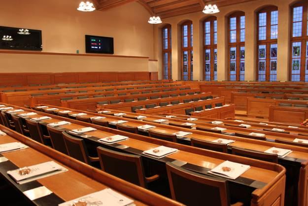Der Berner Grossratssaal hat 200 Plätze
