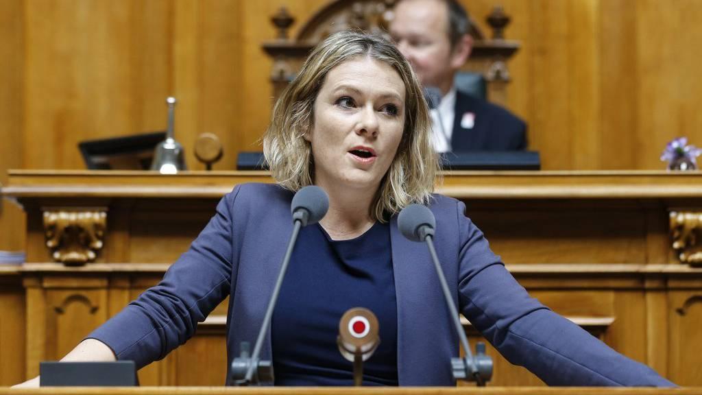 Kathrin Bertschy, GLP-BE, spricht im Nationalratin Bern.