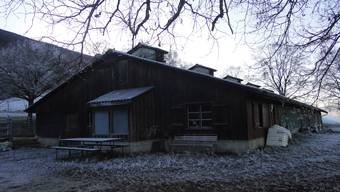 Die Weidhütte Goleten im Enerholz in Laupersdorf.
