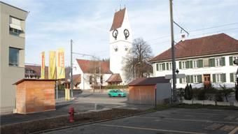 Gemeindehaus und Kirche in Unterkulm