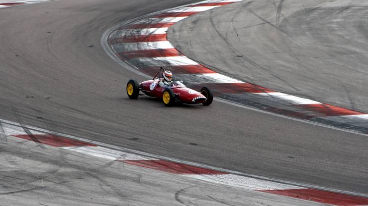 Bruno Weibel in einer Kurve.