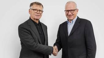 Die Medienkonferenz von AZ Medien und NZZ in Zürich