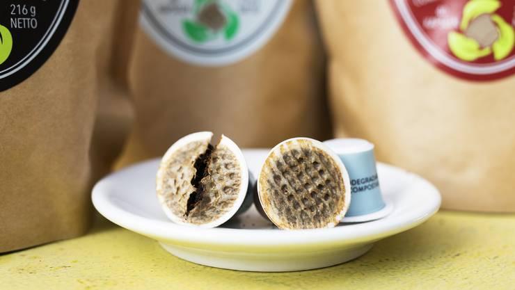 Ein persönliches Anliegen von Mike Schärer von der Kaffeerösterei «Caffé Ferrari»: kompostierbare Kaffeekapseln.