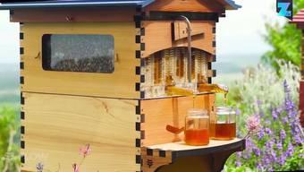 Das Imker-Dasein kann für Mensch und Tier eine anstrengende Angelegenheit sein. Der neue Bienenstock 'Flow Hive' vereinfacht diesen Job. Hahn auf - und der Honig fliesst.