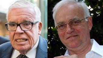 Klaus Michael Kühne (l.) und Hans Liebherr gehören zu den reichsten Deutschen, die in der Schweiz ihr Geld verdienen.