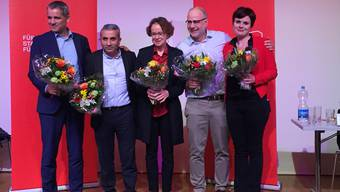 Die Nationalratsliste der Basler SP: Beat Jans, Mustafa Atici, Eva Herzog, Christian von Wartburg und Sarah Wyss
