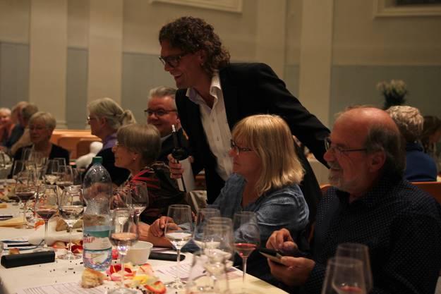 Weinhändler Corti als Gastgeber.