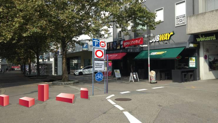 Konrad Schiblis Konzept sieht vor, die alte Aarauerstrasse in «Bifang Promenade» umzubenennen, die Parkplätze aufzuheben und Sitzgelegenheiten aufzustellen. Die gleiche Idee hatte eine Arbeitsgruppe des Projekts Chance Olten Ost vier Jahre zuvor.