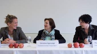Drei gegen den Gripen: Susanne Hochuli, Christine Egerszegi und Pascale Bruderer Wyss.