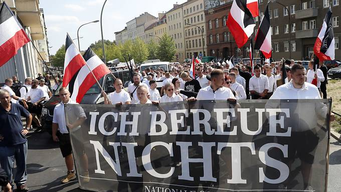 Demonstration der Neonazis in Berlin.