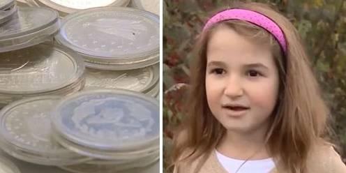 Ein Mädchen und seine Mutter finden über 200 Silbermünzen in Bach