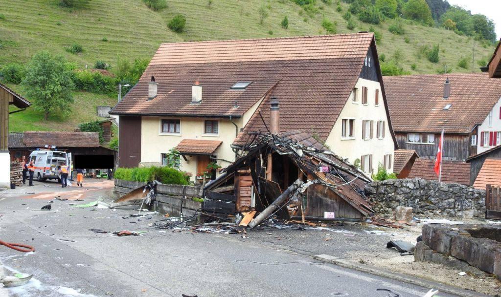 Am Flugmeeting von Dittingen kam es zu einem schweren Unglück