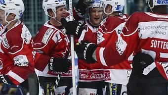 Die Spieler von Red Ice Martigny fertigten La Chaux-de-Fonds ab.
