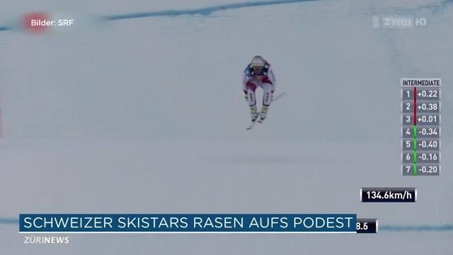 Schweizer Skifahrer sausen aufs Podest