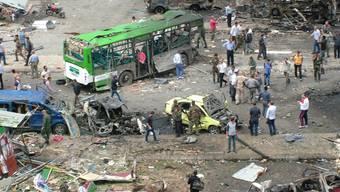 Einer der IS-Anschläge in der syrischen Küstenstadt Tartus ereignete sich an einer Bushaltestelle.