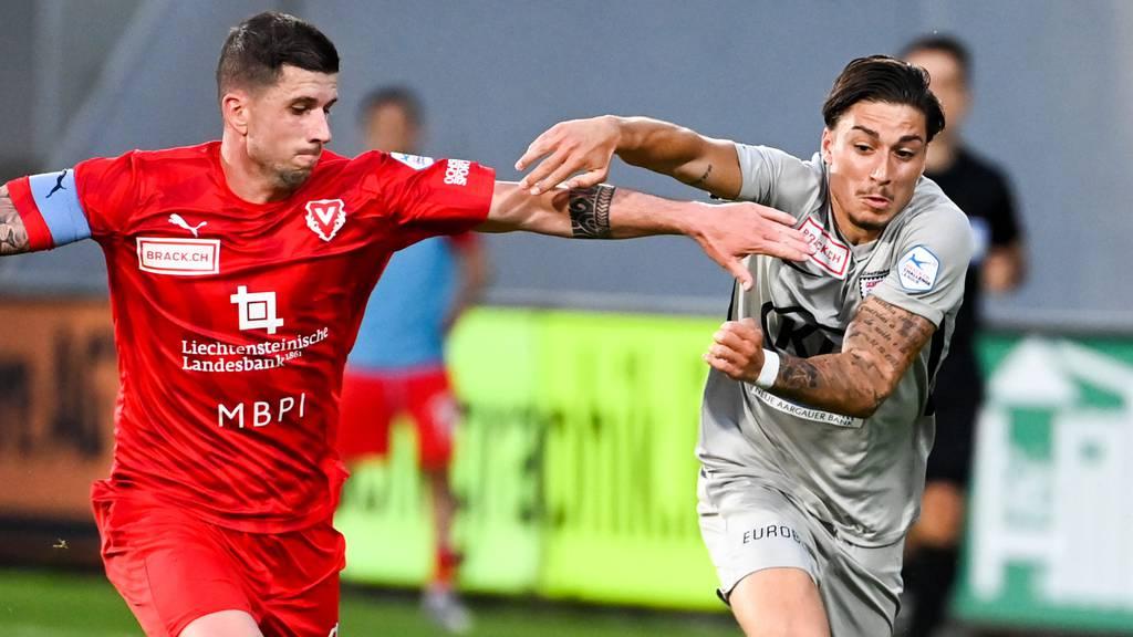 FC Aarau muss sich gegen FC Vaduz geschlagen geben