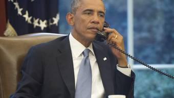 US-Präsident Obama telefoniert im Weissen Haus (Symbolbild)