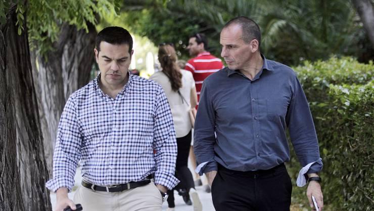 Könnten ein paar «Bazzeli» gebrauchen: Alexis Tsipras und Yanis Varoufakis. (Archiv)