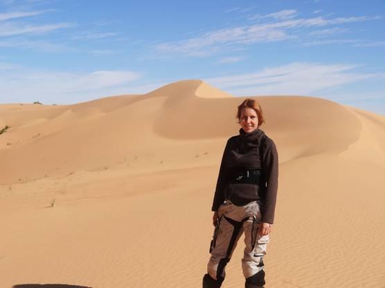 Ein Stop in der Westsahara hat Corinne Hersche auch für diese Reise wieder geplant